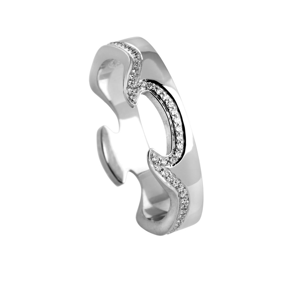Fusion Ring 18K Hvidguld