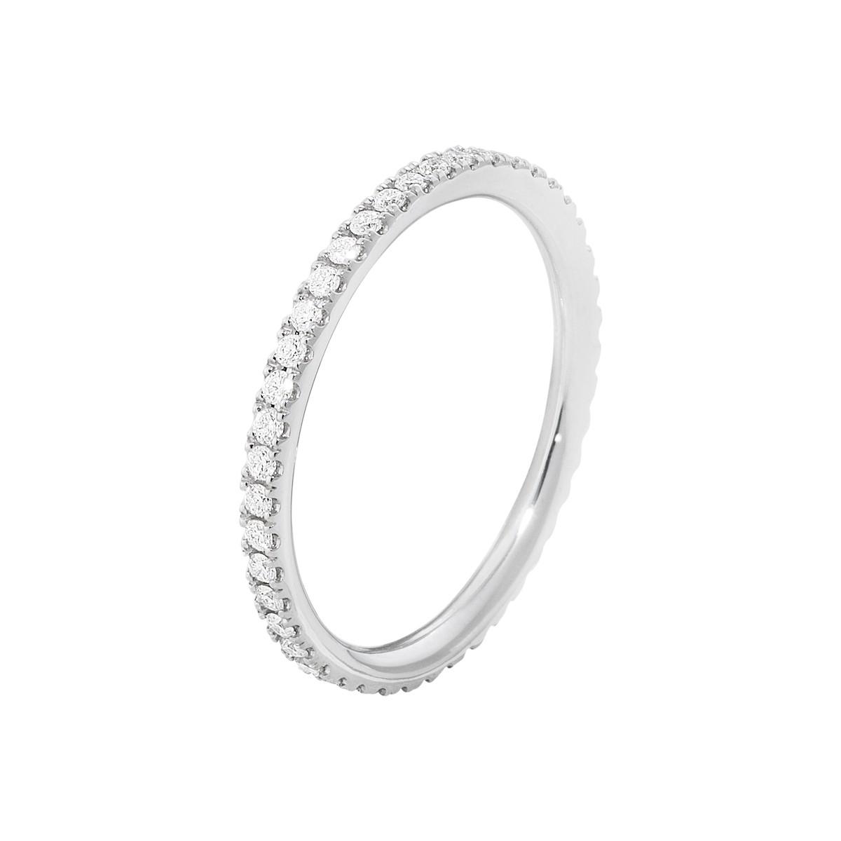 Aurora Ring 18K Hvidguld
