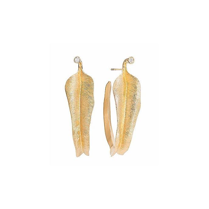 Leaves Ørestikker 18K Guld