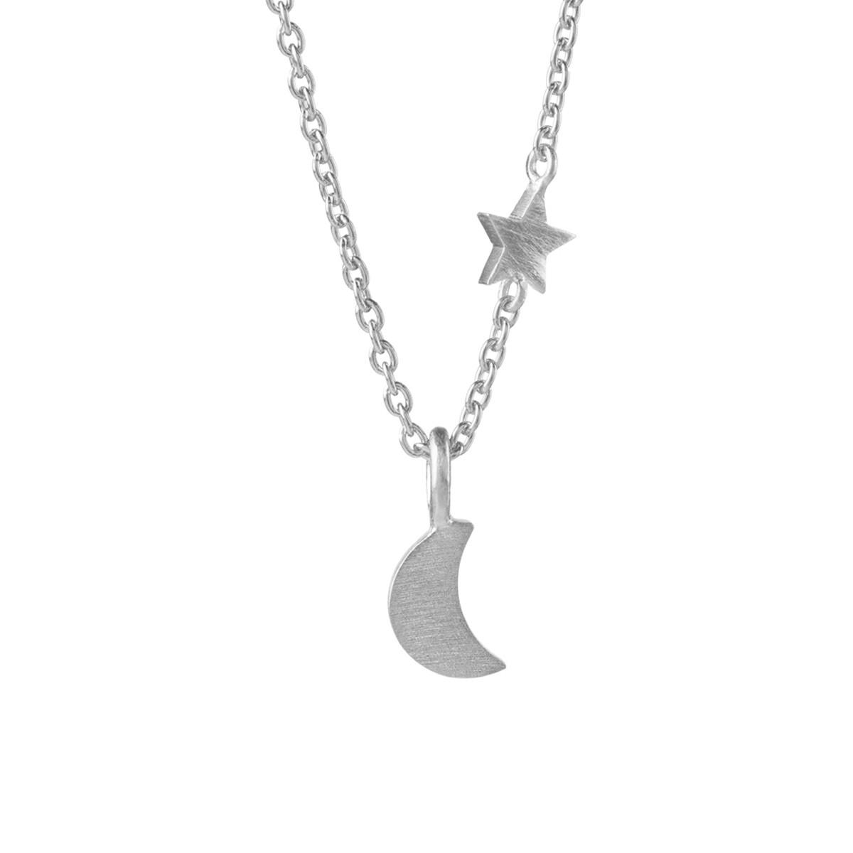 Luna Star Halskæde Sølv