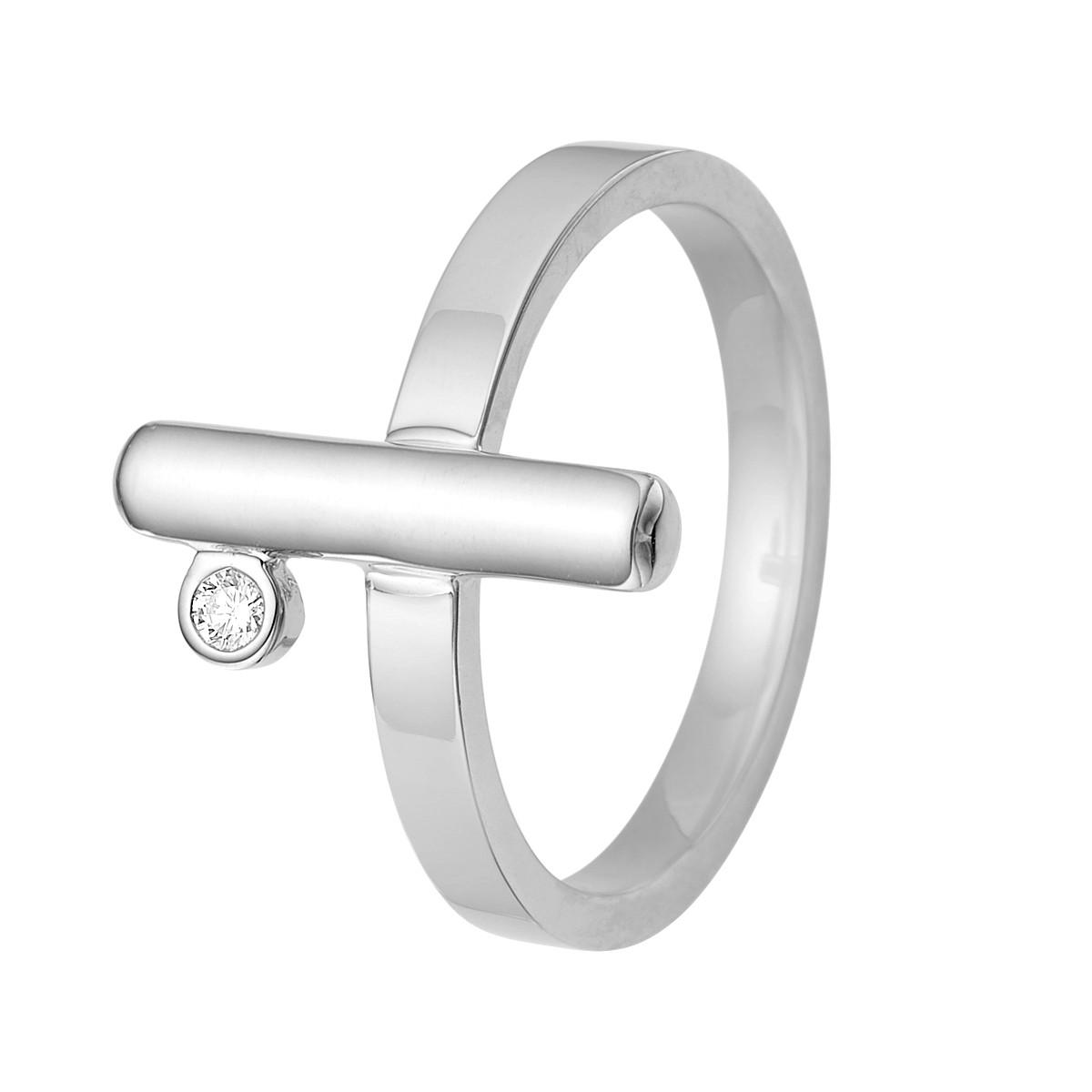 Barres Ring Sølv Brillant