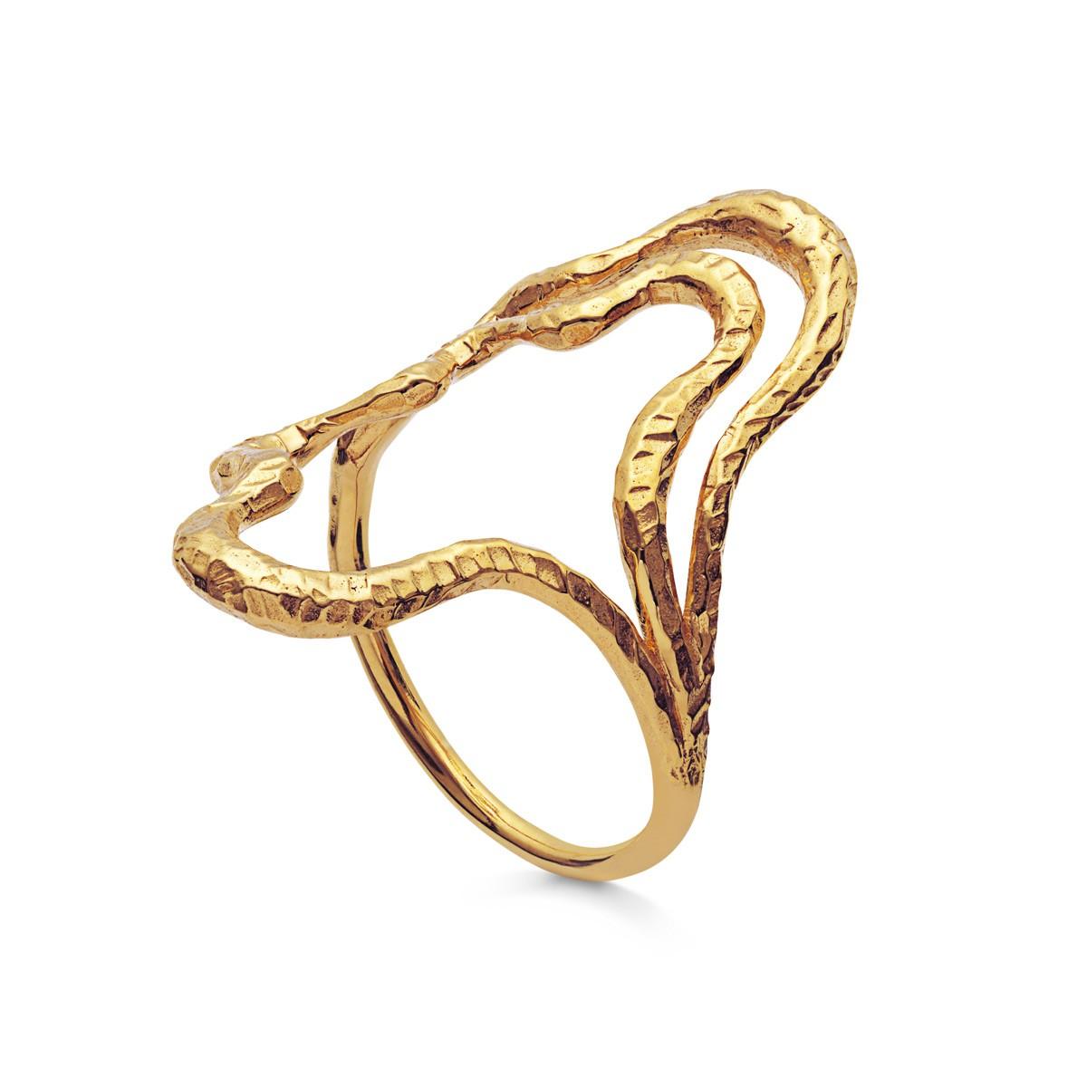 Balia Ring Forgyldt Sølv