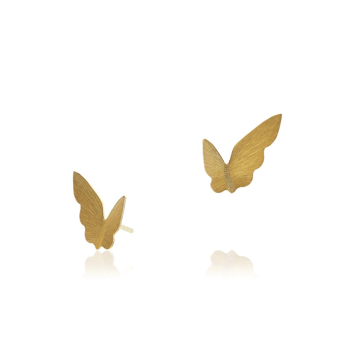 Butterfly Ørestikker 18K Guld