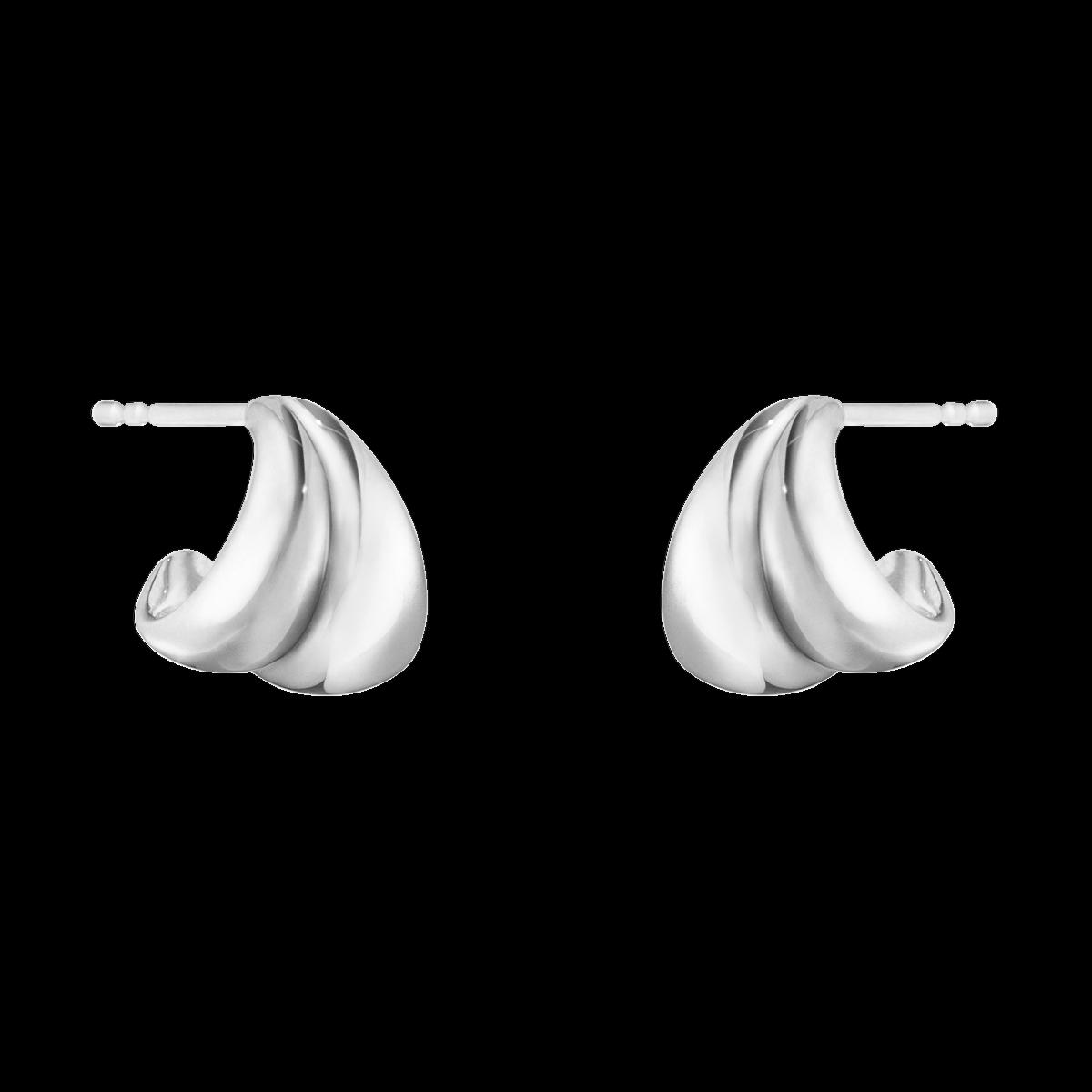 Curve Øreringe Sølv