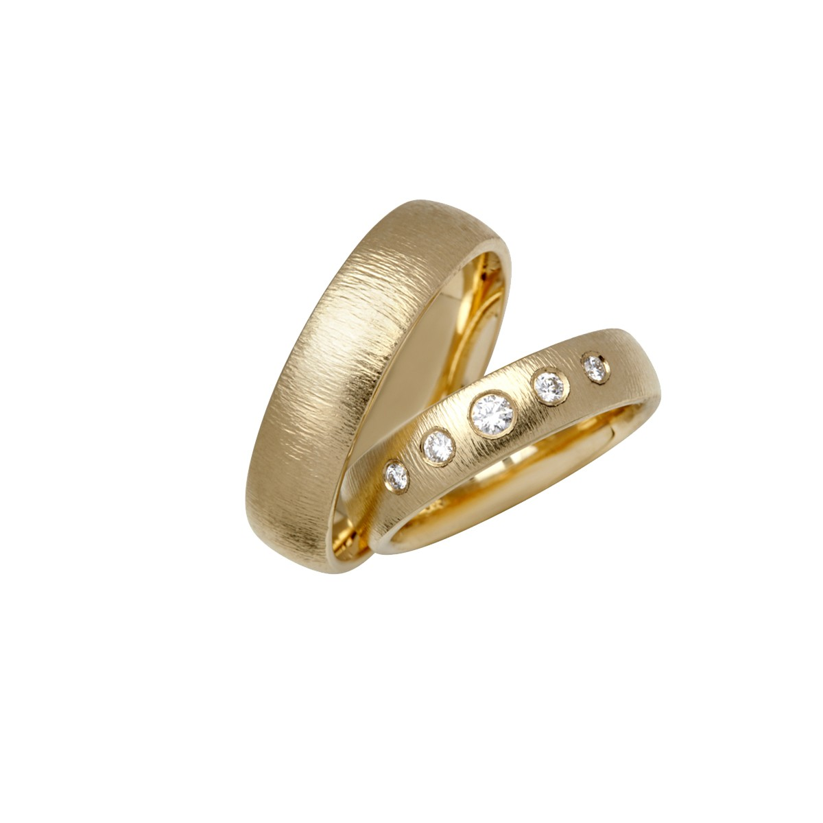 Passion Deluxe Vielsesringe 14K Guld