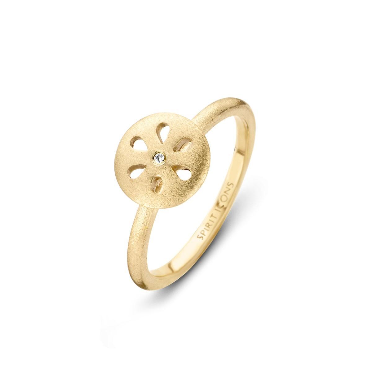 Flora Chic Ring Forgyldt Sølv