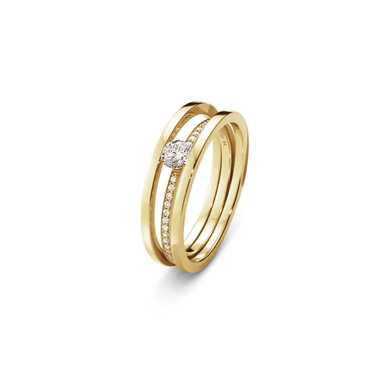 Halo Solitaire Ring 18K Guld