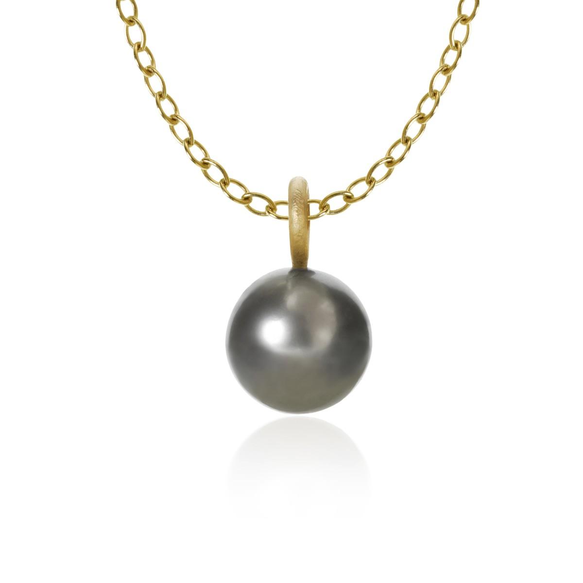 Globe Vedhæng 18K Guld Pearl