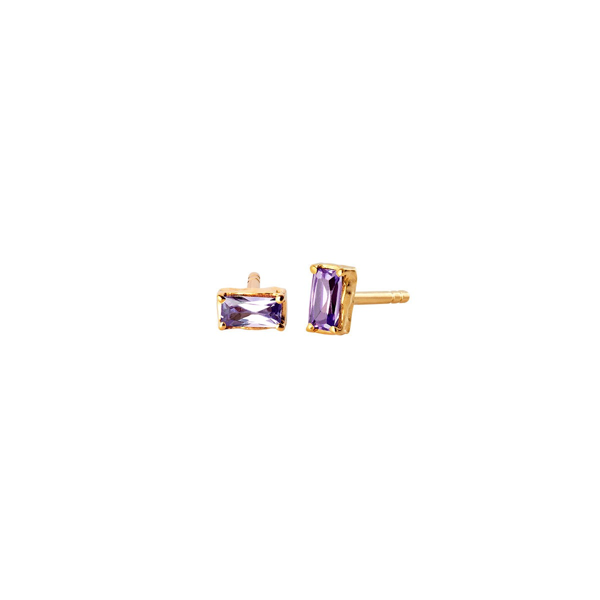 Vanora Purple Øreringe Forgyldt Sølv