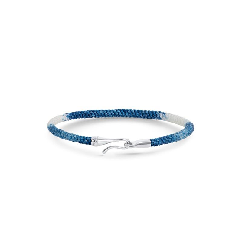 Life Armbånd 18K Hvidguld Blue Jeans