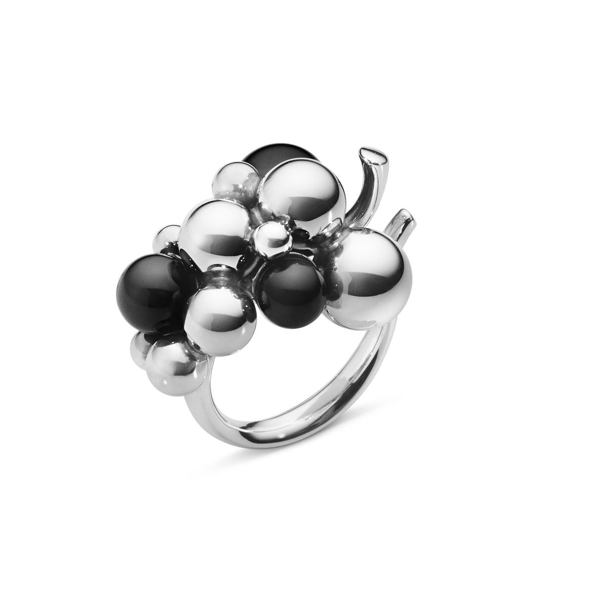 Moonlight Grapes Ring Oxideret Sølv