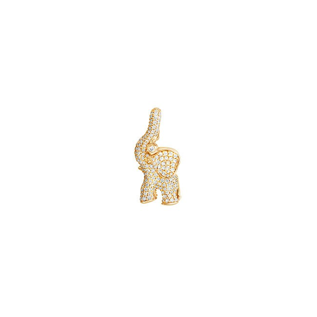 Sweet Drop Elephant Charm 18K Guld
