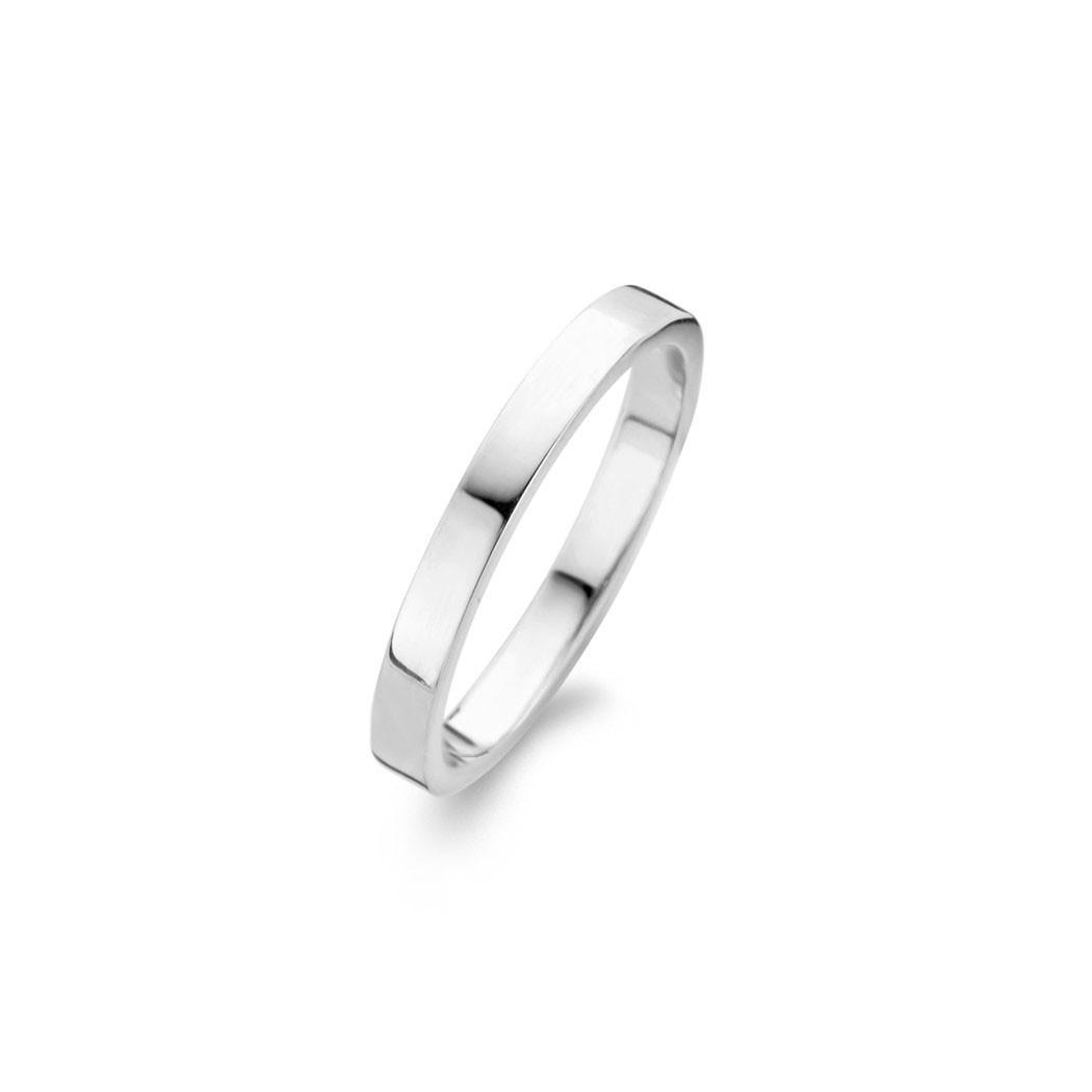 Raw Polished Ring Sølv