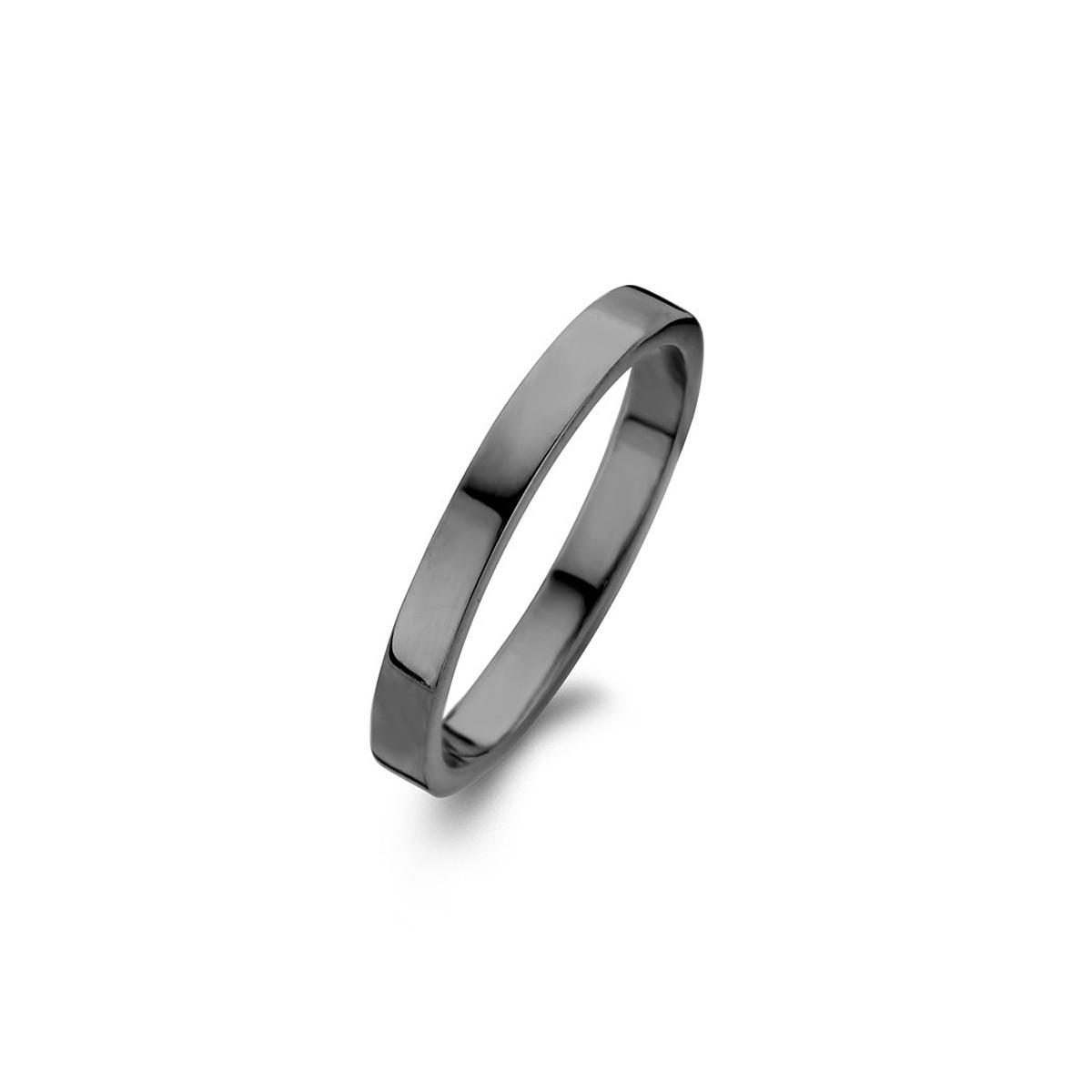 Raw Ring Oxideret Sølv