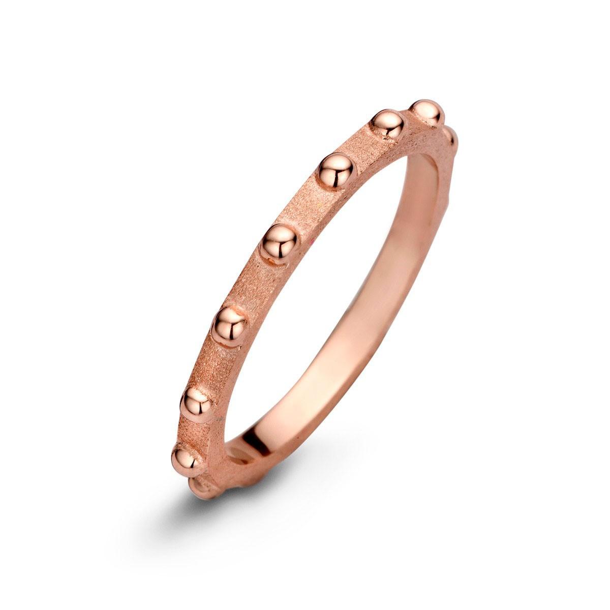Spike Ring Rosaforgyldt Sølv