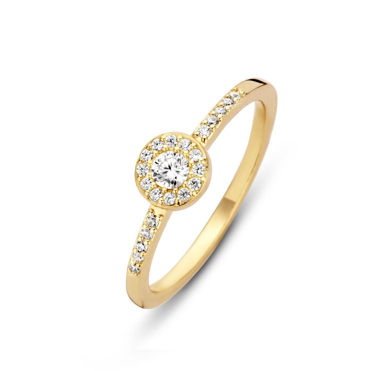 Luxury Ring Forgyldt Sølv