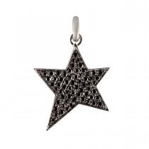 Black Star Vedhæng 14K Hvidguld