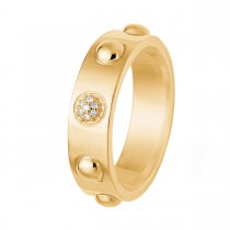 Dome Ring 14K Guld