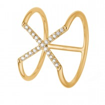 X Ring 14K Guld