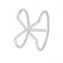 X Ring Sølv