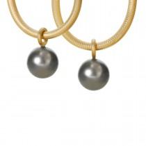 Globe Vedhæng 18K Guld Perler