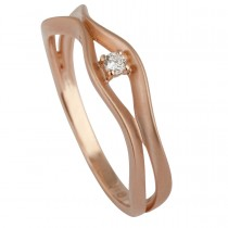 Beat Ring 14K Rosaguld