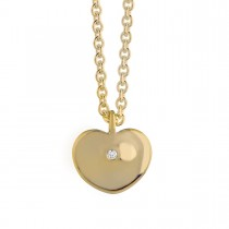 Heart Drop Small Vedhæng 14K Guld
