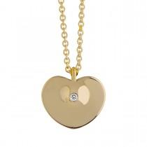 Heart Drop Large Vedhæng 14K Guld