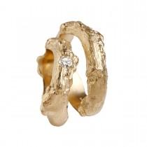 Bougainvillea Vielsesringe 14K Guld