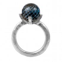 Barok Ring 14K Hvidguld