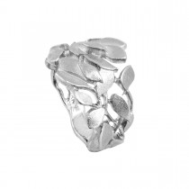 Leaves Ring 14K Hvidguld