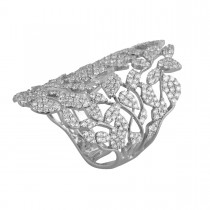 Leaves Ring 18K Hvidguld