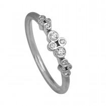 Clover Ring 14K Hvidguld