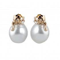 Sea Pearl Ørestikker 14K Guld