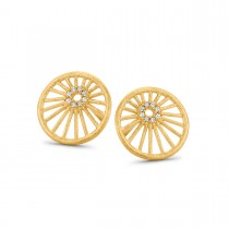 Aura Earrings Gold Plated Silver