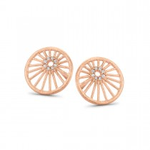 Aura Earrings Rose Gold Plated Silver