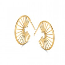 Aura Hoops Gold Plated Silver