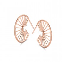 Aura Hoops Rose Gold Plated Silver