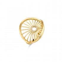 Aura Ring Gold Plated Silver