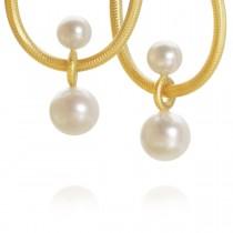 Balance Vedhæng 18K Guld Perler