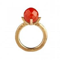 Barok Ring 14K Guld Karneol