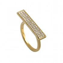 Brick Ring 14K Guld