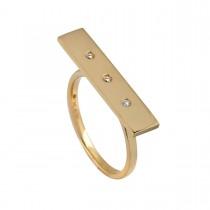 Bricks Ring 18K Guld