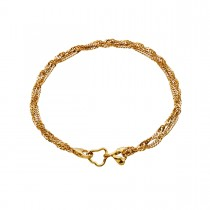 Canna Bracelet Gold Plated Silver