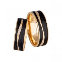 Carbon Kisses Gold Vielsesringe 14K Guld