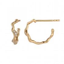 Catch Mini Creole Earrings 14K Gold