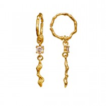 Como Earrings Gold Plated Silver
