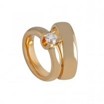 Crown Vielsesringe 14K Guld