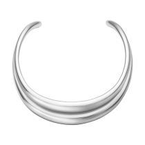 Curve Halsring Sølv