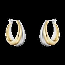 Curve Øreringe 18K Guld
